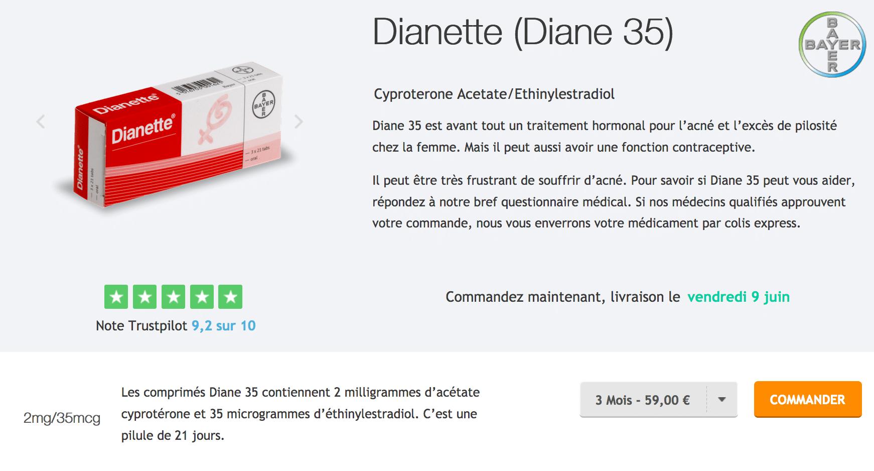 acheter pilule diane 35